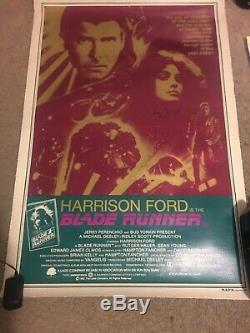 Blade Runner original movie Poster signed by Sean Young Rare Australian linenbac