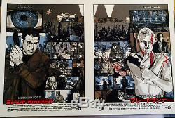Cult film BLADE RUNNER uncut sheet screenprint by NEW FLESH RARE & ORIGINAL