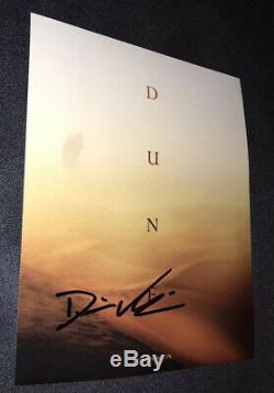 Denis Villeneuve signed Dune poster 8x10 photo proof Blade Runner