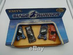 Ertl 1'64 Movie Blade Runner 4 Car Gift Set 3 Spinners & Ground Car MIB