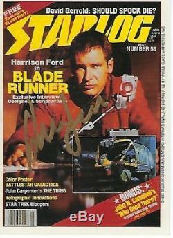 Harrison Ford Hand Signed 1993 Starlog #28 Blade Runner