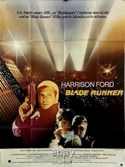 Harrison Ford Rutger Hauer BLADE RUNNER Ridley Scott 1982 FRENCH POSTER 47x63