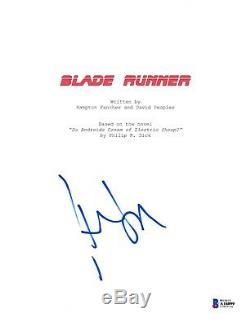 Harrison Ford Signed Blade Runner Script Beckett Bas Autograph Auto Coa