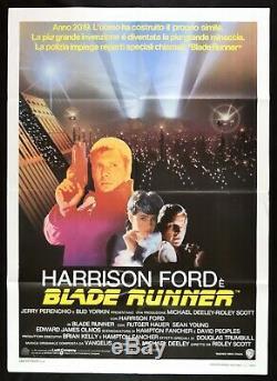 Manifesto Blade Runner Harrison Ford Ridley Scott Rutger Hauer 1982 Cinema M32