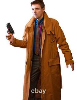 Men's New Blade Runner Rick Deckard Harrison Ford Casual Style Cotton Coat