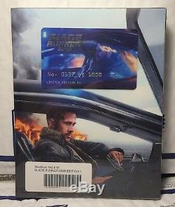 New Blade Runner 2049 3d+2d Blu-ray Full XL Slip Steelbook! Filmarena Ed. 1