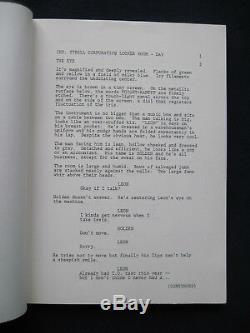 ORIGINAL Film SCRIPT BLADE RUNNER SIGNED & INSCRIBED by Actor JOSEPH TURKEL
