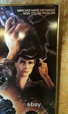Original 1982 Blade Runner Theater Hard backed Display 39 x 26 Poster