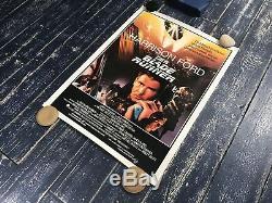 Original Blade Runner Vintage 1982 Movie Poster Linen Science Fiction Cyberpunk