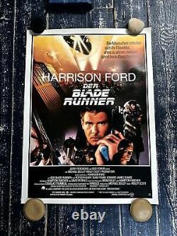Original Vintage 1982 Blade Runner Movie Poster Linen Backed Archival German Art