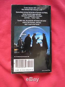 Philip K. Dick Blade Runner Signed By Serena & Tim Powers 1st Movie Ed