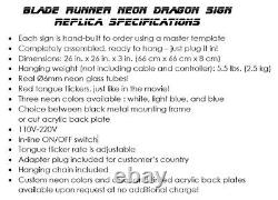 REAL NEON Dragon Sign Prop Replica from Blade Runner