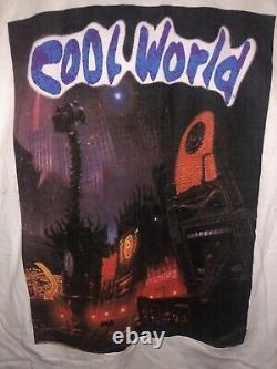 Rare Vintage 1992 Movie Cool World Brad Pitt t shirt Anime Blade Runner The Mask