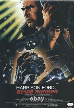 Ridley Scott Joanna Cassidy Signed 12x18 Blade Runner Authentic Auto JSA COA