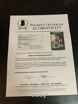 Ridley Scott Signed Blade Runner Cast Signed 11x17 Bas Coa Beckett A