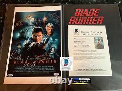 Ridley Scott Signed Blade Runner Cast Signed 11x17 Bas Coa Beckett B