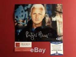 Rutger Hauer signed 8 x 10 Blade Runner Photo Beckett COA