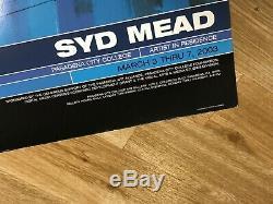 Signed SYD MEAD 18x24 Art Poster tron blade runner star trek aliens gundam print