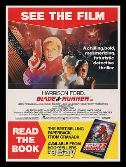 The Rarset Original'82 Blade Runner Poster On Ebay! See The Film Read The Book