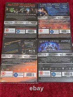 Titans Of Cult 4k Steelbooks Blade Runner Wonder Woman, Mad Max & Rpo New Sealed