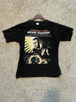 Vintage 80s 90s Blade Runner Directors Cut Movie Horror Movie Shirt 21x27 RARE