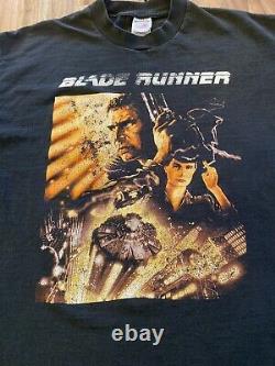 Vintage Blade Runner Shirt Movie Promo Tee XL Harrison Ford RARE 90s Rap T VTG
